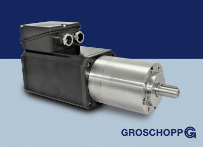 Induktionsmotor Sila mit Edelstahlgetriebe IGKU80-80